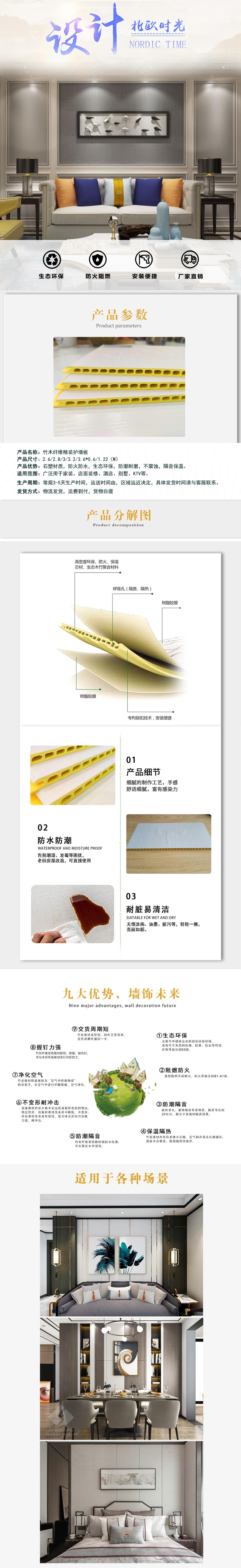 竹木纖維護墻板